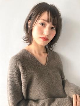 【Unami】透明感カラー×外ハネショートボブ岸直美◇