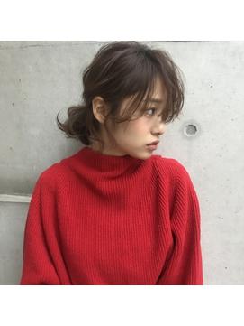 セミウェットウェーブ/似合わせ/小顔/ヘアアレンジ
