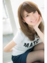 【Euphoria銀座/立花 和範】女子力高めの前髪&柔らかカラー ブラウンアッシュ.50