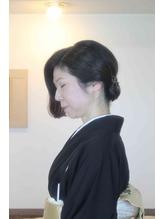 黒留袖 まとめ髪 まとめ髪.45
