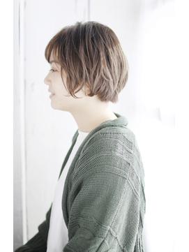 小顔セミウェットウェーブハイライトカラー美髪オリーブカラー37