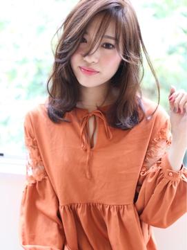 ☆JILLbyGIEN☆オレンジカラー×透けバングミディ