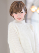【VIALA 自由が丘】ショートボブ×耳かけ .22