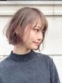 【東 純平】ゆるふわ柔らか小顔ボブ+インナーカラー
