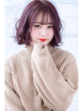 【Reginavita鈴木】ゆるふわボブ×パープルピンク