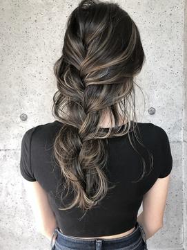 ハイライトカラー ハイライト モテ髪