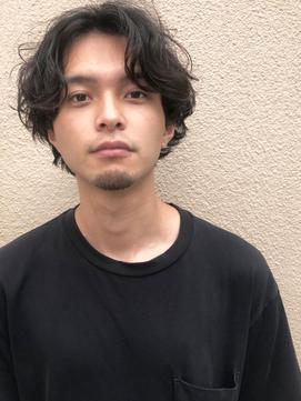 【表参道 Avenz】☆メンズパーマ☆センターパート☆セミウエット