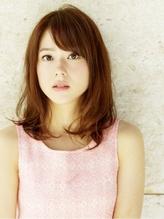 【studio Teo】ナチュラルフローセミディ×女子アナ風斜めバング 女子アナ.37