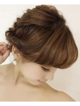 編み込み可愛いアップスタイル【hair resort Ai上野店α】