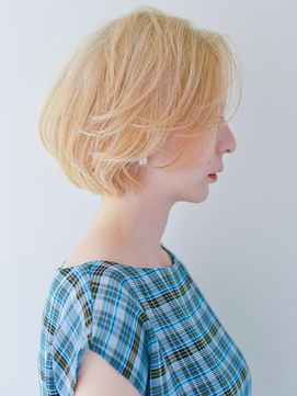 小顔クールショートxボブルフxピンクベージュxモテ髪カタログ729