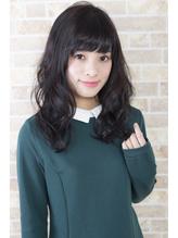 【暗髪】ダークブラウン×ゆるふわセミロング 清楚.35