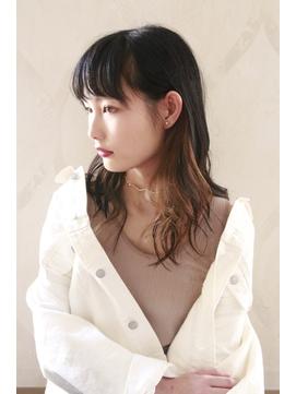 黒髪×インナーカラー