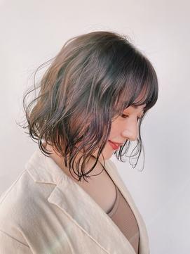 【GARDEN西川】大人可愛い小顔前髪・ボブパーマラベンダーカラー