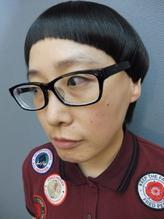 クラシカルオン眉ラウンドマッシュボブ☆個性的なモード小顔ヘア.30