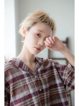 【miel hair渋谷】ブロンドカラー/ゴールドベージュ