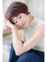 *CUORE松戸*…モードなボルドーカラーが◎エアリーショートa.42