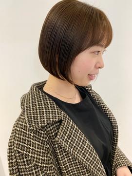 【三ツ井純】ナチュラルボブ ダークブラウンカラー 20代30代