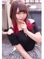 ☆CAPSULE☆ミルクティーブラウン&インナーレッド ウルフカット