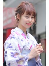 浴衣アレンジ☆ゆるふわまとめ髪 キュート.37