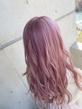 ハイトーンカラー ピンクパープルに!!