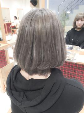 似合わせカットショートボブ☆ラベンダーアッシュグレージュ