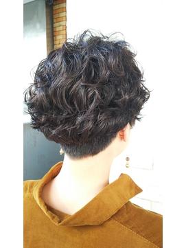 黒髪でもオシャレ☆2ブロパーマスタイル