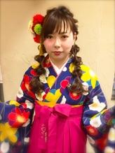 卒業式・袴ヘア★たまねぎツインテール ツインテール.37