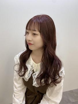 韓国風ウェーブヘア