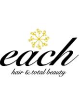 イーチ ヘアーアンドトータルビューティ(each hair&total beauty)