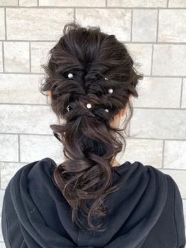 【AMAZING HAIR 千歳店/横山】結婚式・お呼ばれ 華やかヘア