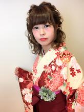 卒業式 ハーフアップの袴アレンジ 浴衣.25