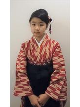 小学生の袴とヘアセット.33