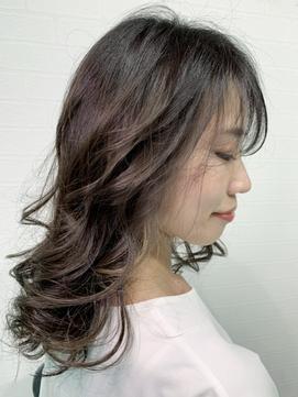 かきあげロングマロンベージュ[池袋/インナーカラー/髪質改善]
