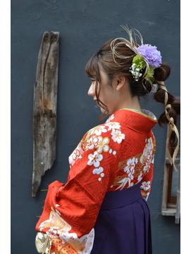 【コトノハ】かわいい着物ヘア 成人式 卒業式 振袖 袴ヘアー