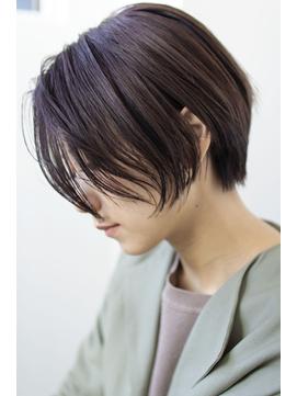 抜け感×丸みショート×シルキーバイオレット【新宿】