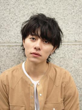 [MAKE'S 前田]黒髪マッシュウルフ