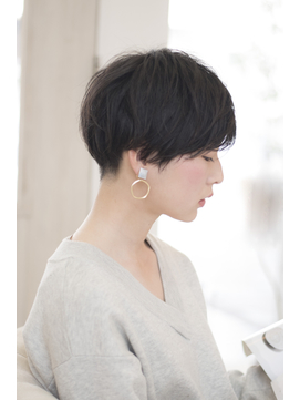 【Soar】黒髪xツーブロックxショートボブxパーマ