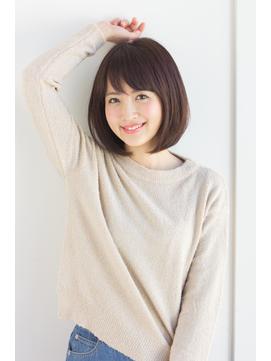 【東 純平】人気スタイル☆ ナチュラル女子の小顔ナチュラルボブ