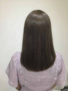 『tie hair』 艶髪イルミナ☆大人カーキグレージュ ロング