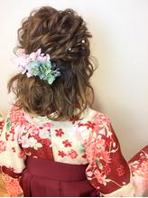 卒業式 袴 ゆるふわハーフアップ 卒業式.13
