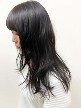 重可愛いワンレン☆ダークブラウンカラー 落ち着き.56