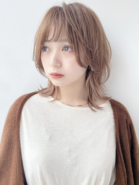 【K-two Esola 池袋】ミディアムウルフ/ひし形シルエット/カール