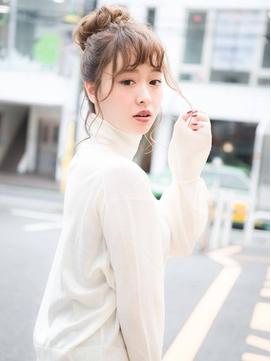 【keep hair design 甲田】ゆるっとルーズお団子☆