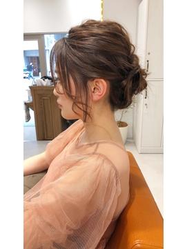 前髪カタログくびれミディイヤリングカラーラベンダーカラー