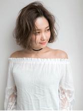 透明感×ふわふわエアリー☆大人かわいい小顔ショートボブ.35
