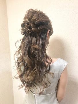 #akane_yoshihara 大人かわいいブライダルハーフアップ