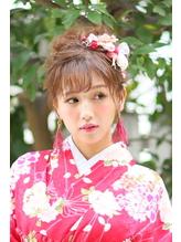 和装にも合う華やかアップスタイル☆ 卒業式.11