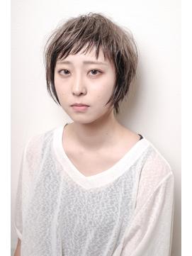 【倉地雄介】大人可愛いオン眉ショート+ローライト