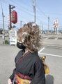 shima#成人式#アップ#ヘアアレンジ#盛り髪