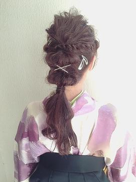 ♪袴スタイルたまねぎポニー♪